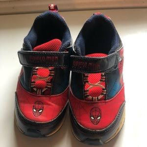 Toddler boys Spider-man light up sneakers, 8.